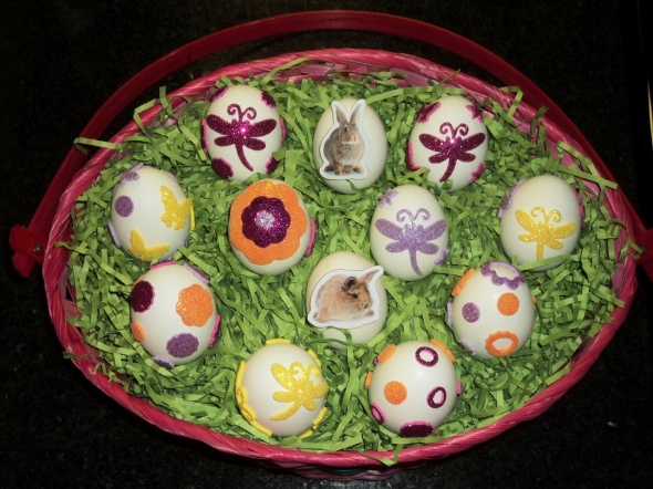 Sticker Easter Eggs: A Broad Cooking