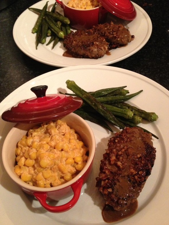 Pecan Crusted Venison with Creamed Corn: A Broad Cooking