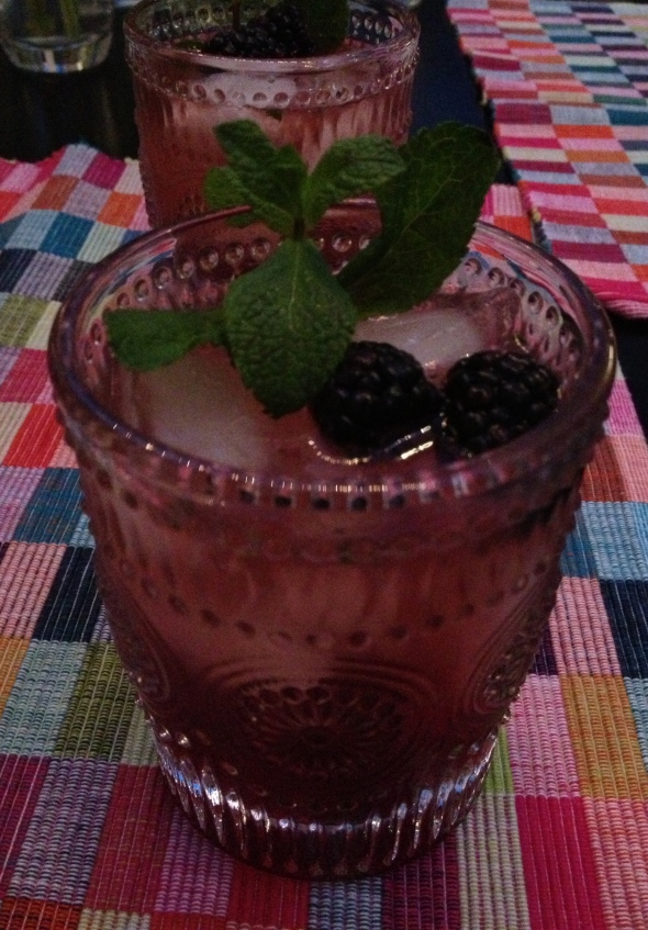 Blackberry Mint Julep: A Broad Cooking