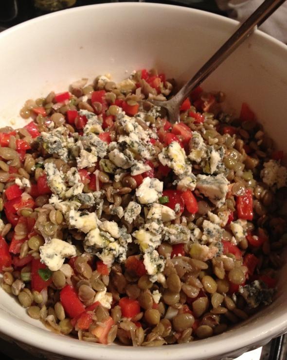Lentil Salad with Stilton: A Broad Cooking