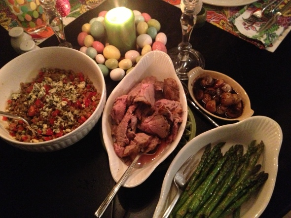 Easter Dinner: A Broad Cooking