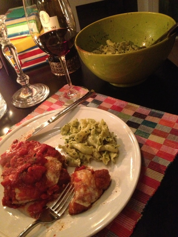 Chicken Parm and Pesto Pasta: A Broad Cooking
