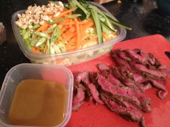 Gingery Asian Steak Salad: A Broad Cooking