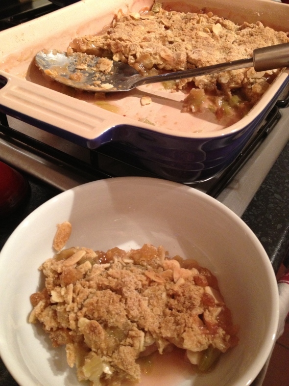 Rhubarb-Ginger Crumble: A Broad Cooking