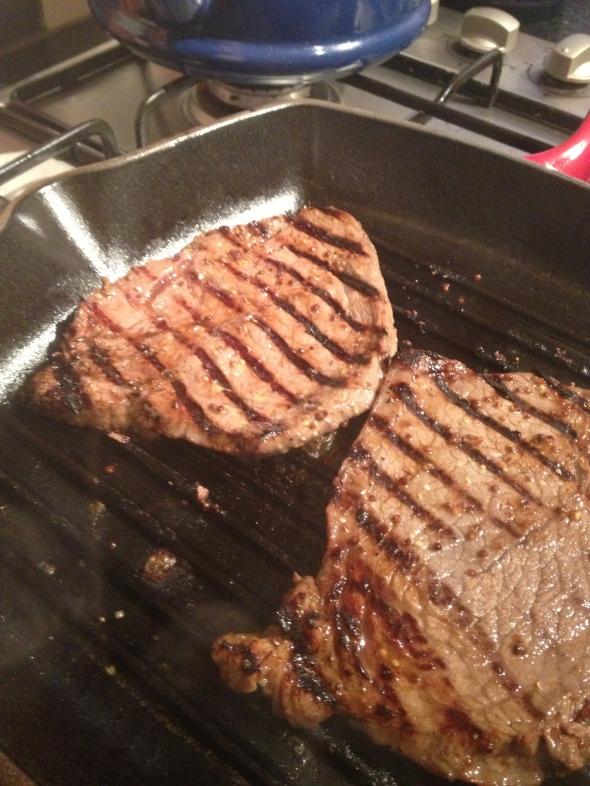 Bourbon Mustard Steak: A Broad Cooking