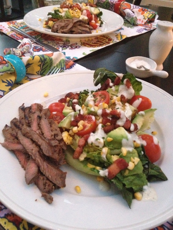Bourbon Steak and Grilled Salad: A Broad Cooking