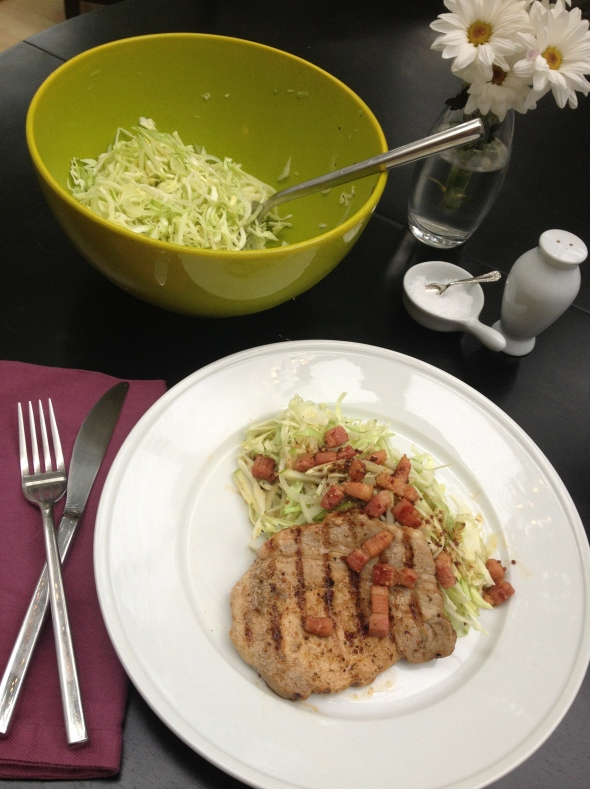 Grilled Pork Chops with Cabbage & Apple Salad: A Broad Cooking
