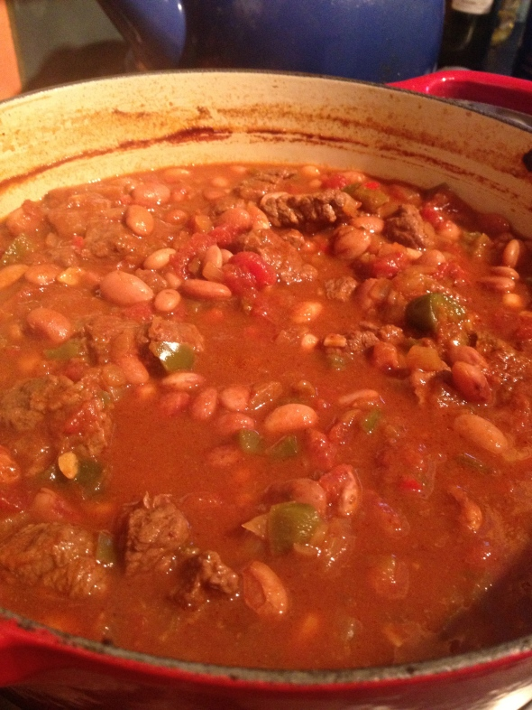 A Big Ole Pot of Beef & Beans: A Broad Cooking