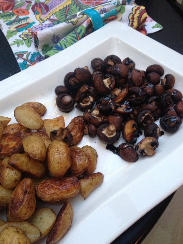 Roasted Potatoes and Balsamic Mushrooms: A Broad Cooking