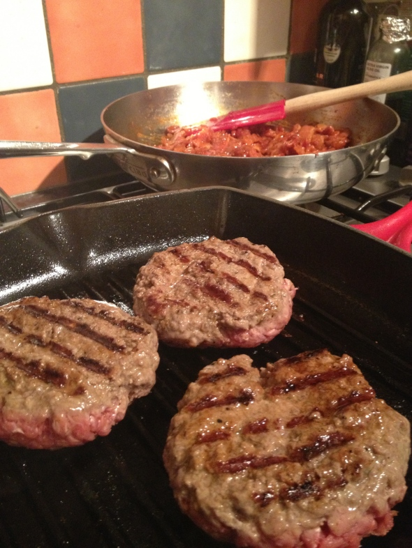 Grilled Burgers with Bacon Marmalade: A Broad Cooking