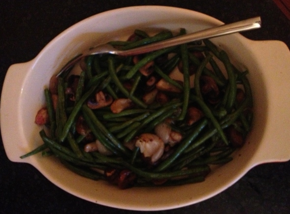 Green Beans & Mushrooms with Sherry Vinegar: A Broad Cooking