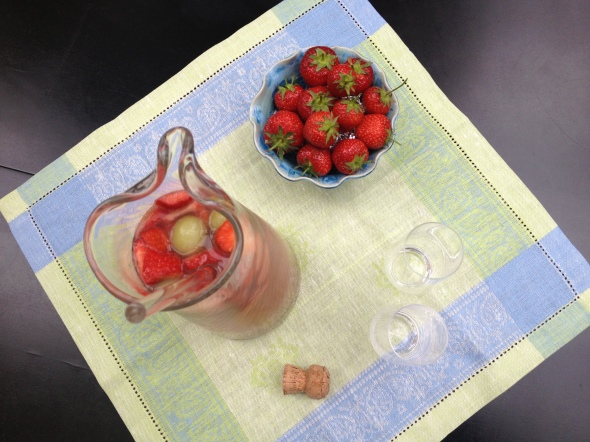 Champagne and Strawberry Sangria: A Broad Cooking