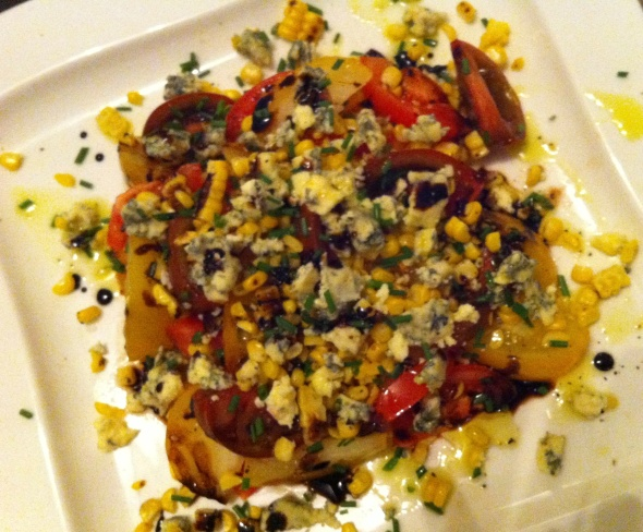 Heirloom Tomato, Corn, & Blue Cheese Salad: A Broad Cooking