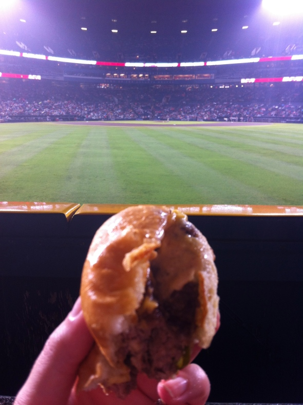 Holeman & Finch Burger @ Braves Game: A Broad Cooking