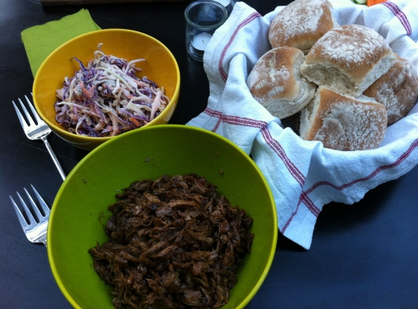 Balsamic Pulled Pork with Blue Cheese Cole Slaw: A Broad Cooking
