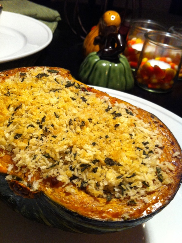 Sausage Stuffed Squash with Brown Butter Sage Breadcrumbs: A Broad Cooking