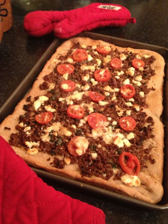 Balsamic Lamb Flatbread: A Broad Cooking