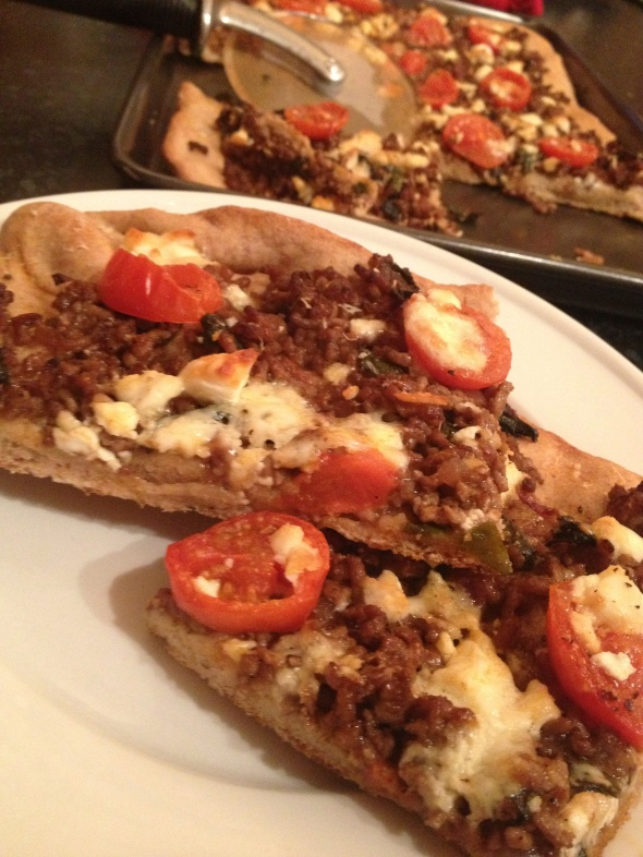 Garlicy Balsamic Lamb Flatbread: A Broad Cooking