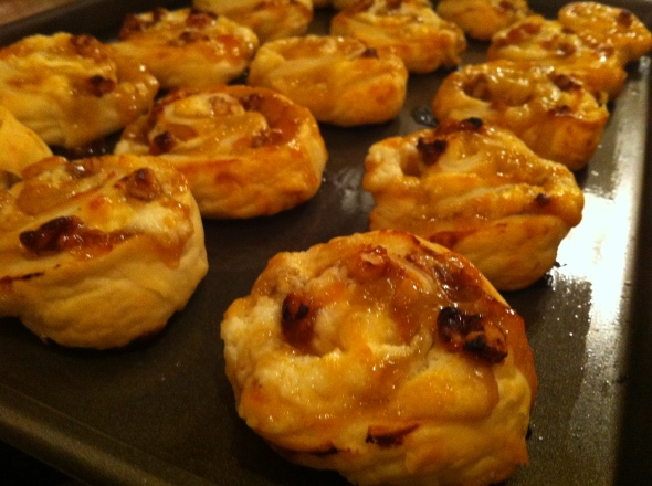 Apricot & Goat Cheese Palmiers: A Broad Cooking