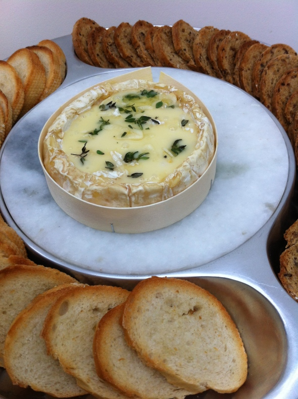 Thyme and Garlic Baked Camembert: A Broad Cooking