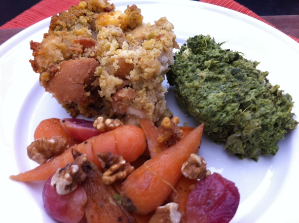Spectacular Sides - Classic Stuffing, Creamed Spinach Gratin, Carrots Sautéed with Vodka & Grapes: A Broad Cooking
