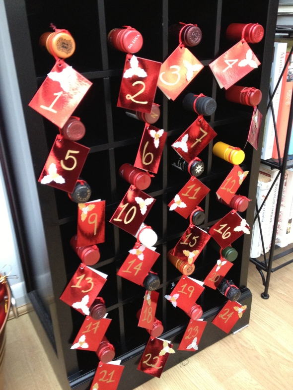 Wine Advent Calendar - an A Broad Cooking Tradition