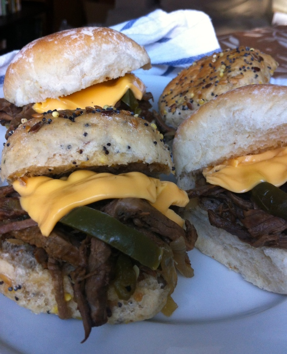 Braised Philly Cheesesteak Sliders: A Broad Cooking