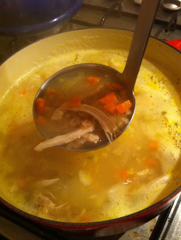 Daphne Oz's Roasted Garlic Chicken and Farro Soup: A Broad Cooking