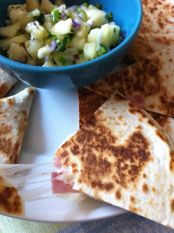 Hawaiian Pizza Quesadilla with Pineapple Salsa: A Broad Cooking