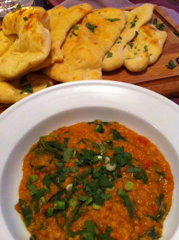 Spinach Lentils and Naan: A Broad Cooking