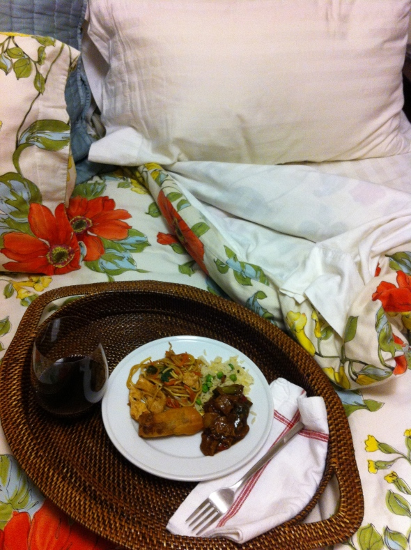Chinese Food in Bed - My Guiltiest Pleasure: A Broad Cooking