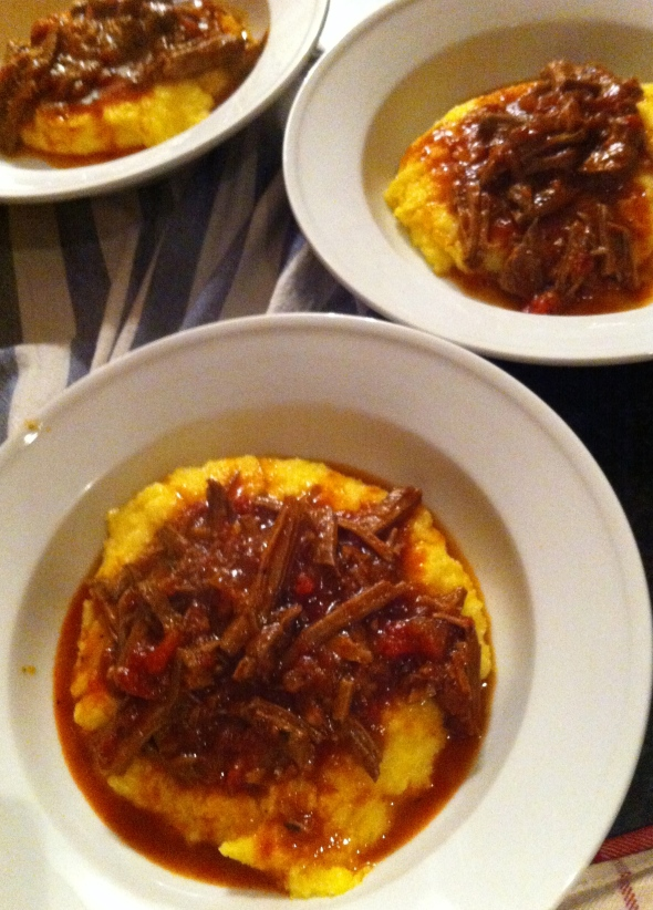 Braised Beef over Parmesan Polenta: A Broad Cooking