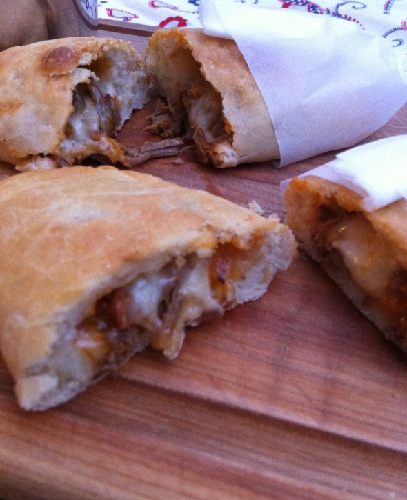 Braised Beef Calzones - a rich and unique filling: A Broad Cooking