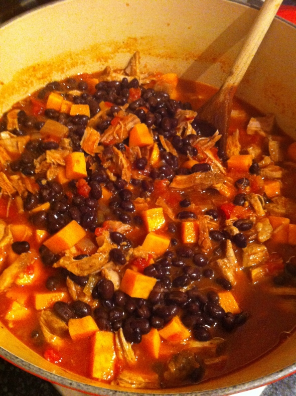 Pork, Sweet Potato, & Black Bean Chili: A Broad Cooking