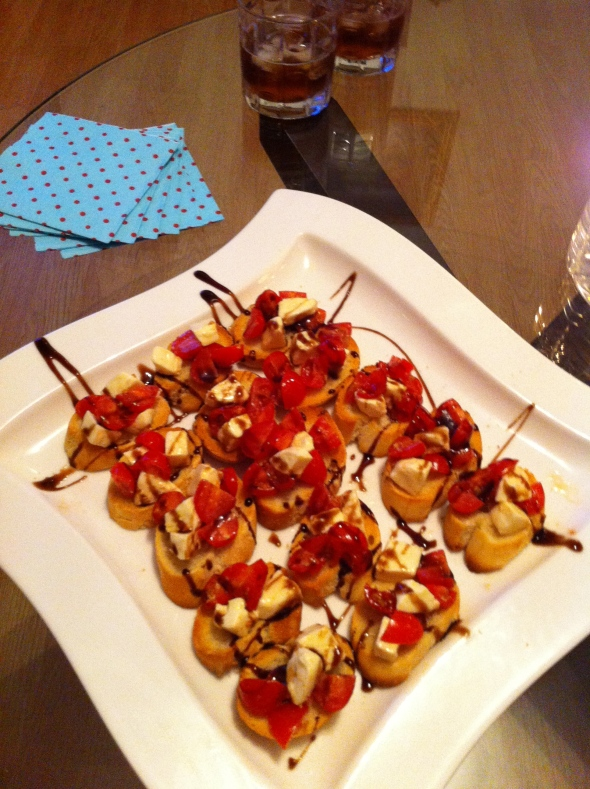 Bruschetta & Manhattans - Date Night Starter: A Broad Cooking