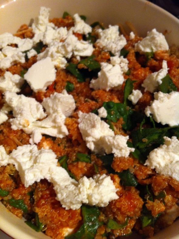 Spinach Calzone Quinoa